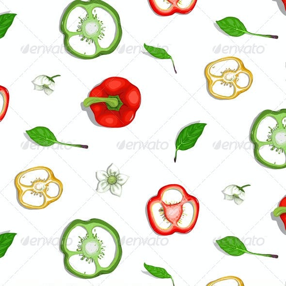Paprika Sweet Pepper Seamless Background