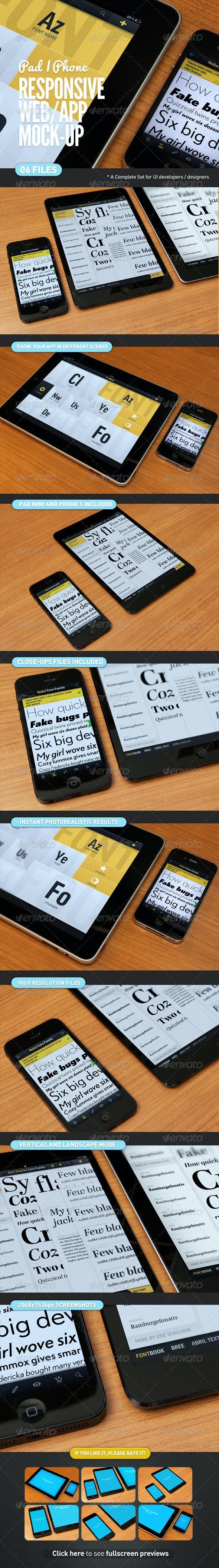 Responsive Screen Web | App Mock-Up - Multiple Displays