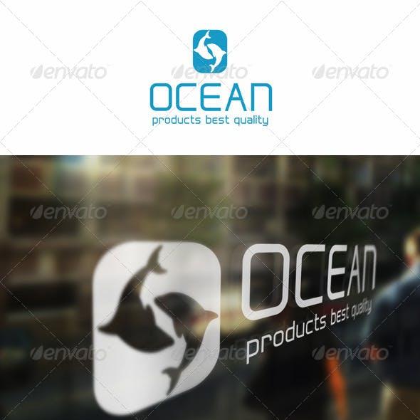 Ocean Fish - Letter O Logo Template