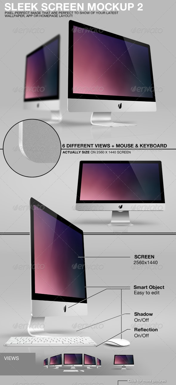 Sleek Screen Mockup 2 - TV Displays