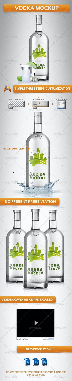 Vodka Mockup - Miscellaneous Product Mock-Ups