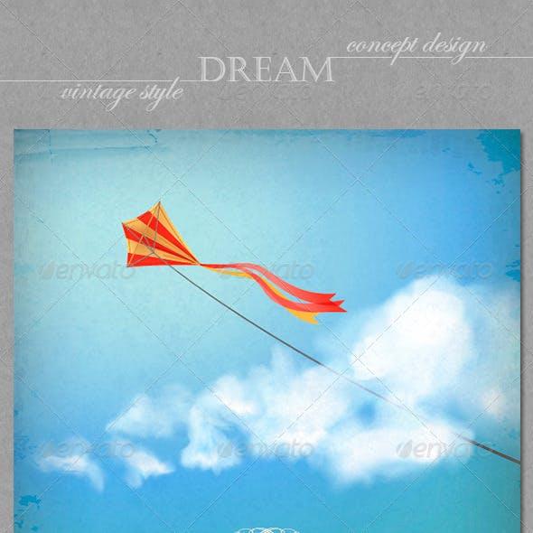 Vintage Sky Backgrounds. Concept Dream Design