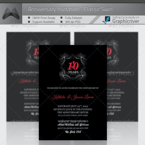 Anniversary Invitation Template_Vol.01