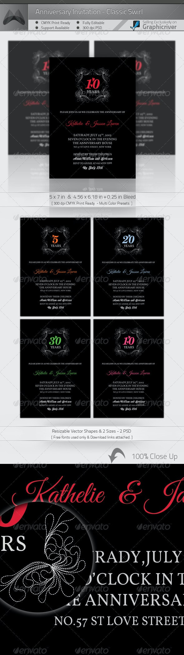 Anniversary Invitation Template_Vol.01 - Anniversary Greeting Cards