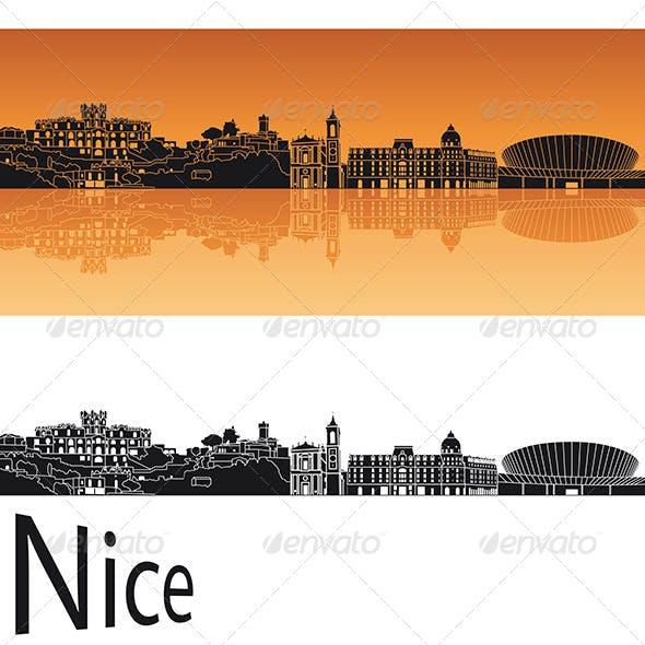 Nice Skyline in Orange Background