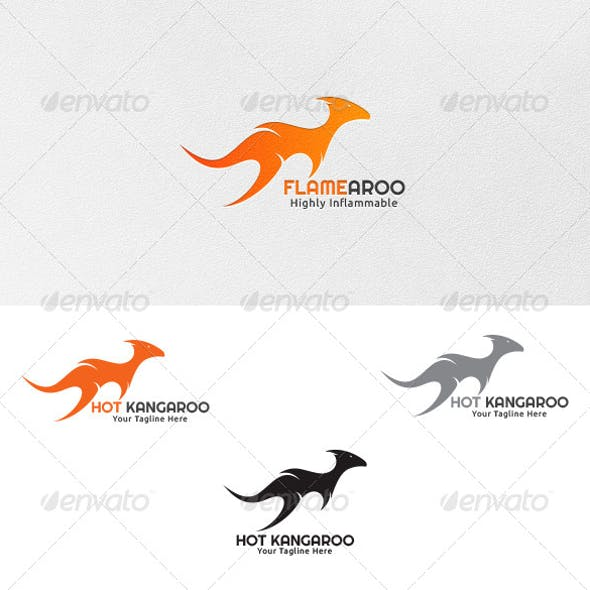Hot Kangaroo - Logo Template