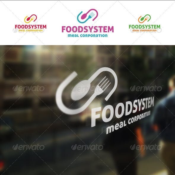 Food System Restaurant Logo