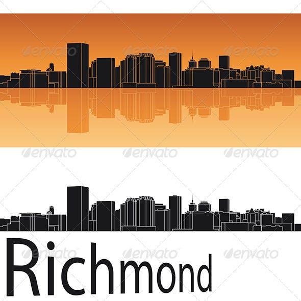 Richmond Skyline in Orange Background