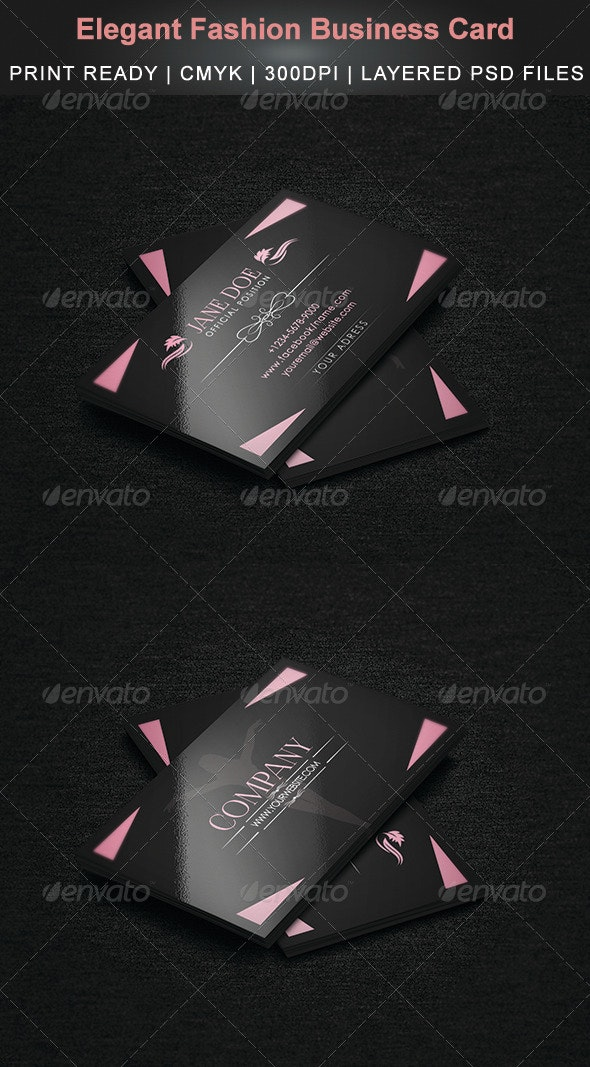Elegant Fashion Business Card - Corporate Business Cards