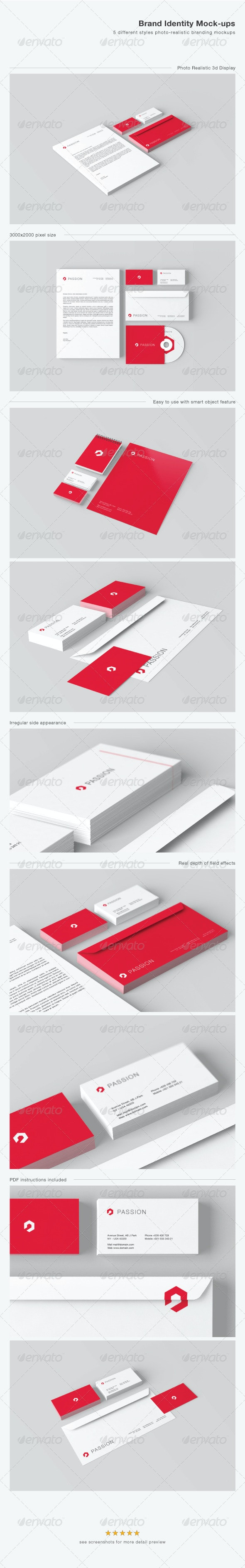 Stationery / Brand Identity Mock-ups - Print Product Mock-Ups