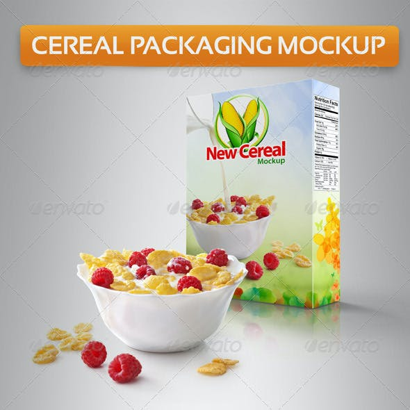Cereal Packaging Mockup