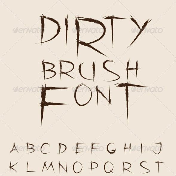 Dirty Brush Vector Font