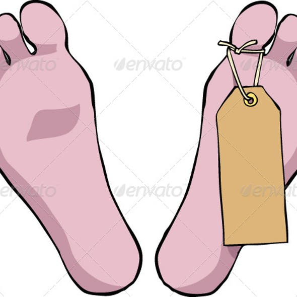 Feet With a Tag