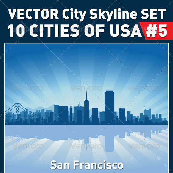 Vector City Skyline Set. USA #5