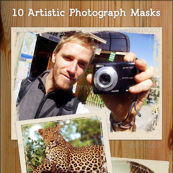 Photographic Mask Frames - Artistic Grunge