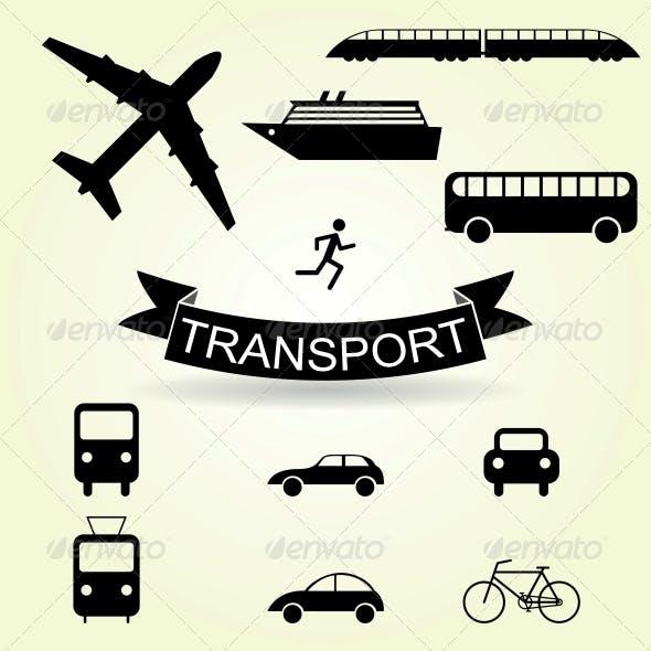 Set of Vehicle Icons
