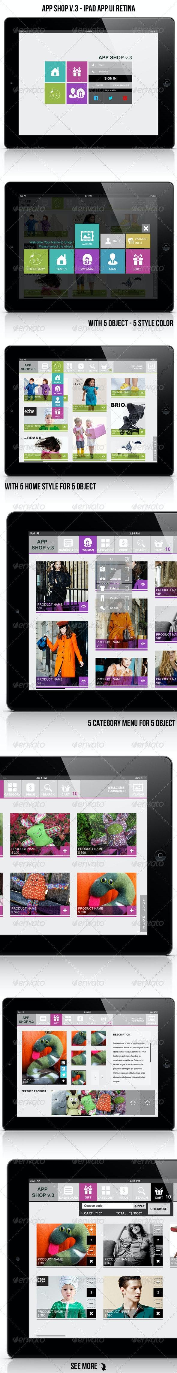 App Shop v.3 - Ipad App UI Retina