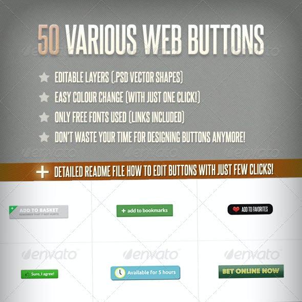 50 Various Web Buttons
