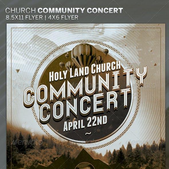 Church Community Concert: Flyer Template