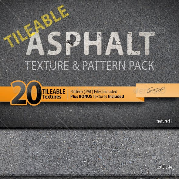 20 Tileable Asphalt Texture Photoshop Patterns