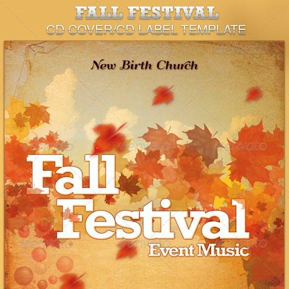 Fall Festival CD Artwork Template