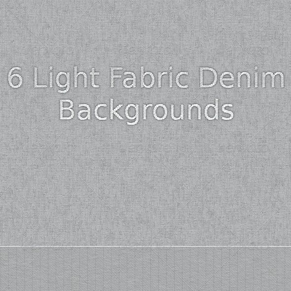 6 Light Fabric Denim Backgrounds