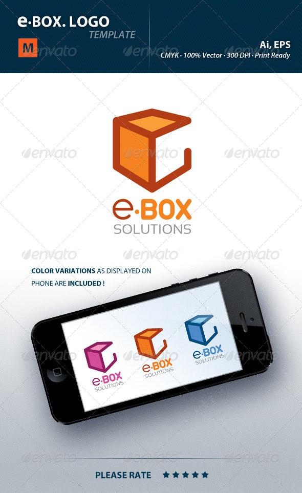 E Letter Box Logo - Letters Logo Templates