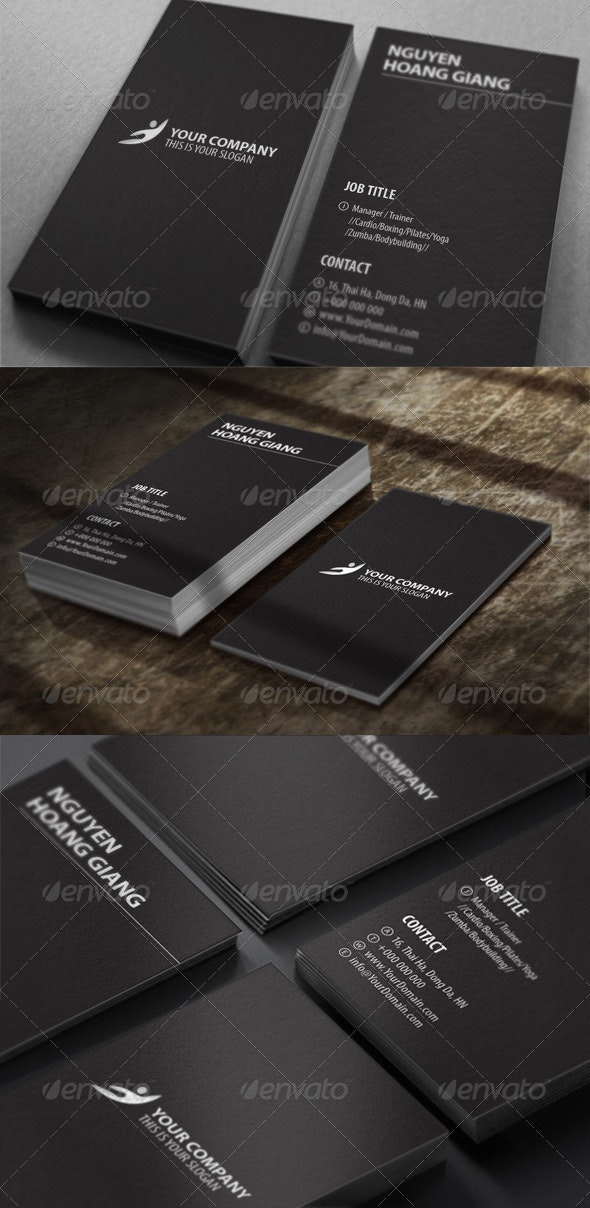 Fitness Center Business Card - Corporate Business Cards
