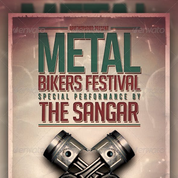 Metal Bikers Flyer Template