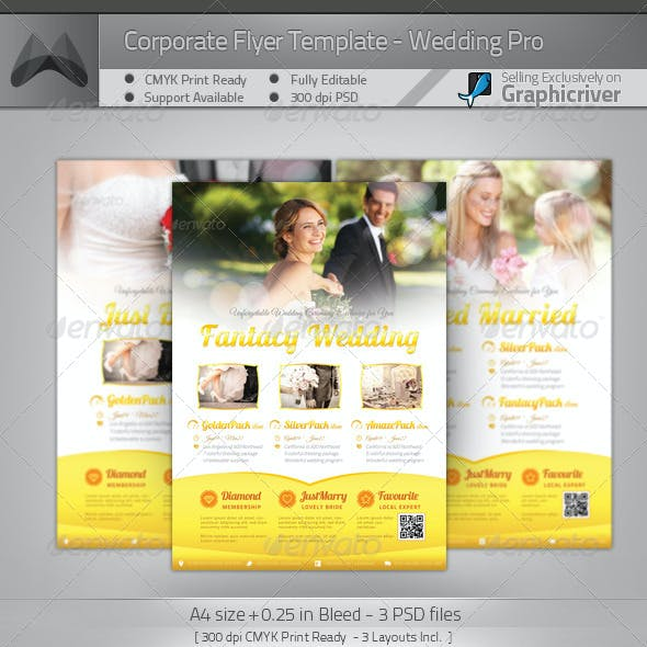 Corporate Flyer - Wedding Pro