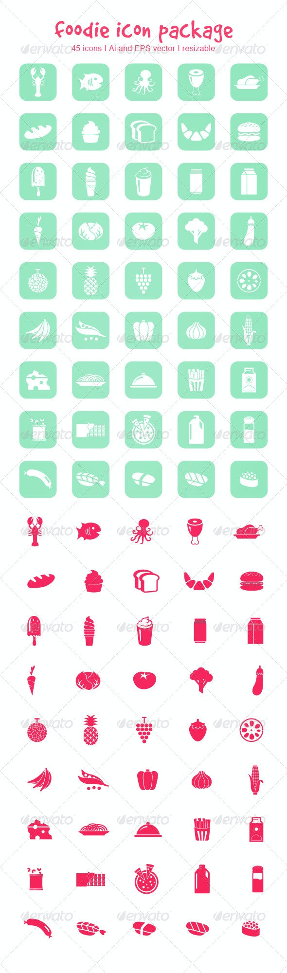 Foodie Icon Package - Icons
