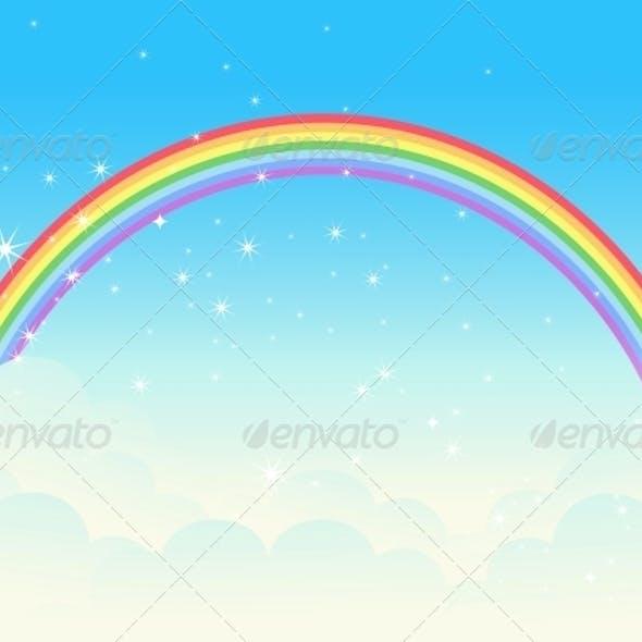 Shiny Rainbow Landscape