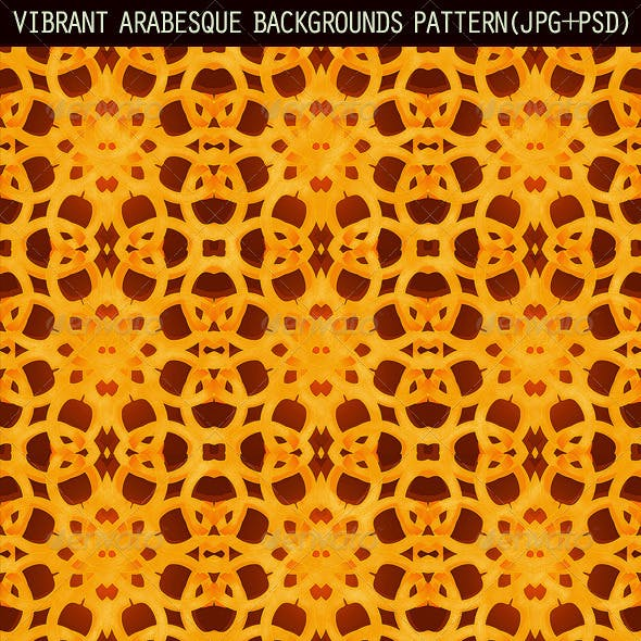 2 Vibrant Arabesque Background Patterns
