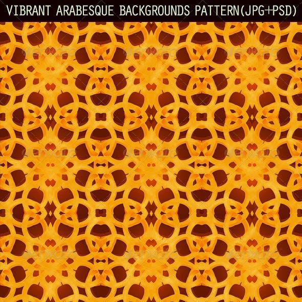2 Vibrant Arabesque Background Patterns