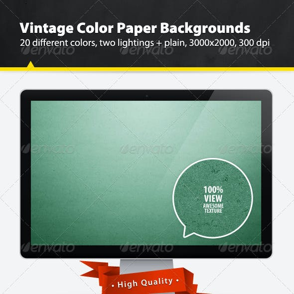 Vintage Color Paper Backgrounds