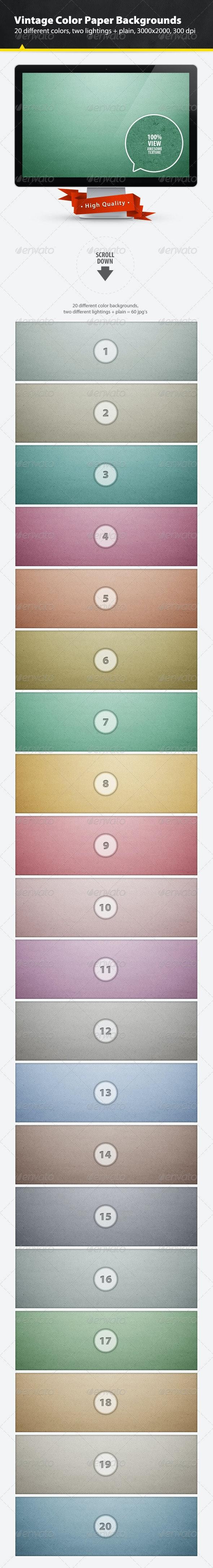 Vintage Color Paper Backgrounds - Patterns Backgrounds