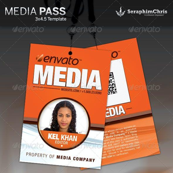 Media Pass Template