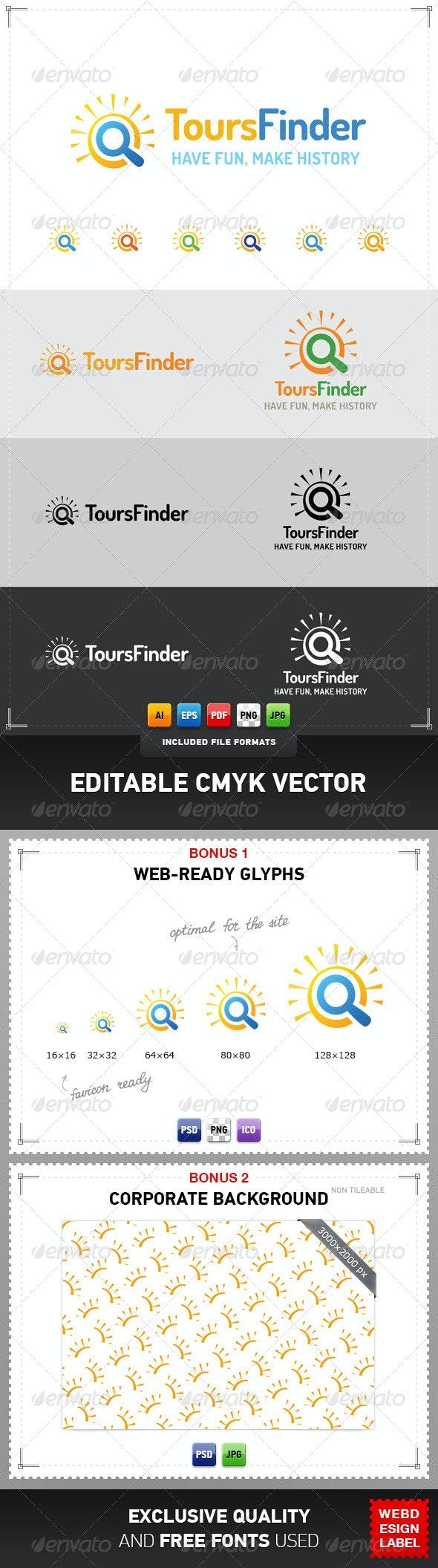 Tours Finder Logo - Symbols Logo Templates