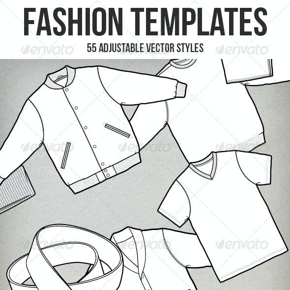 50+ Vector Fashion Templates