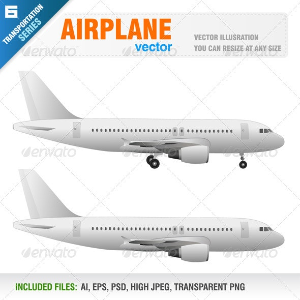 Airplane - Objects Vectors