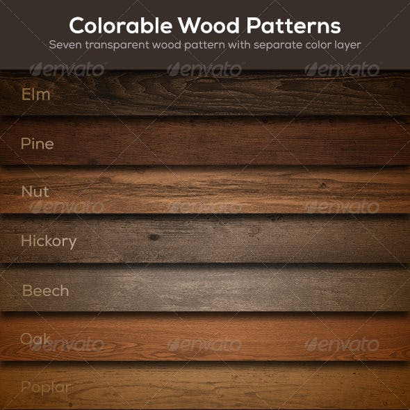 Colorable Wood Patterns