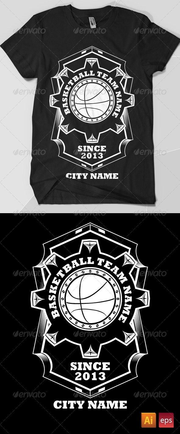 Basket Ball Team T-Shirt - Sports & Teams T-Shirts