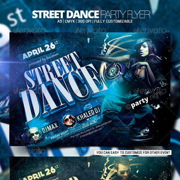 Street Dance Party Flyer
