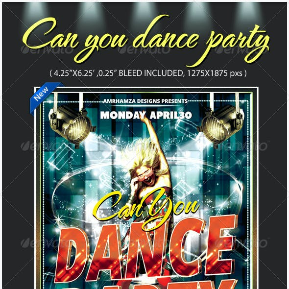 Talent Dance Show Flyer Template