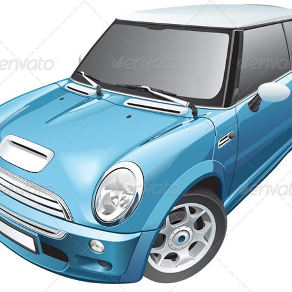 Blue Small Car