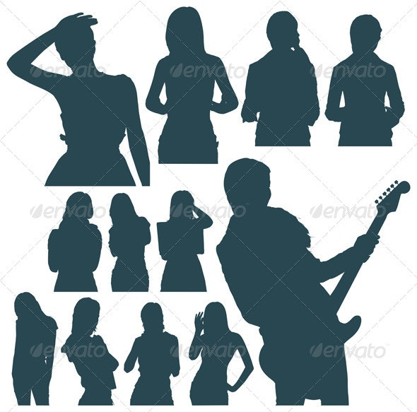 Womans Silhouettes - People Characters