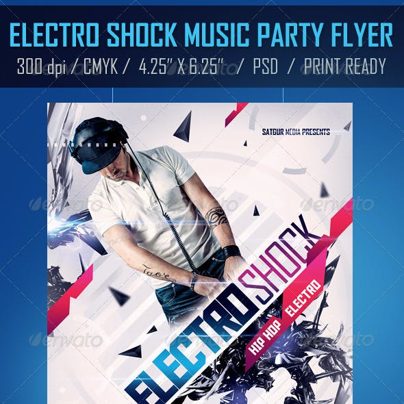 Electro Shock Music Party Flyer