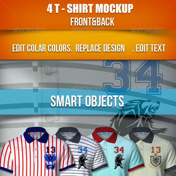 4T-Shirt Mockup   Front & Back