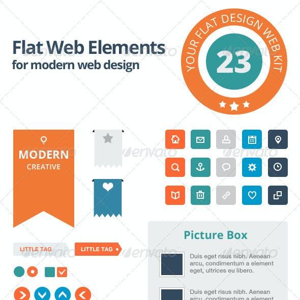 Flat Web Elements - Modern Design Set