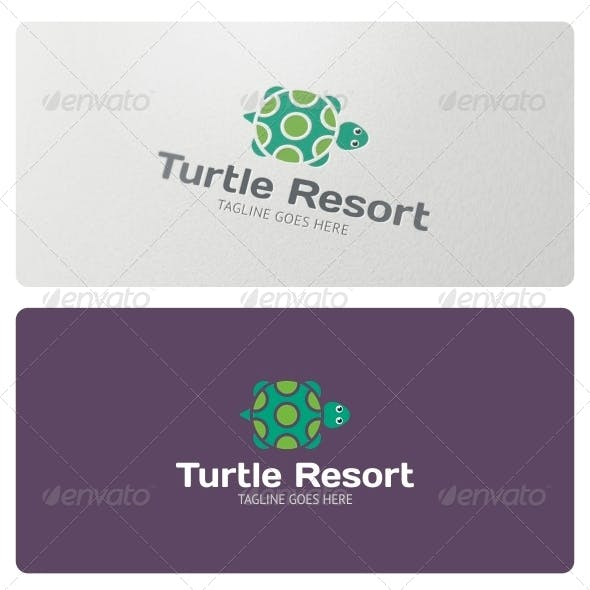 Turtle Resorts Logo Template
